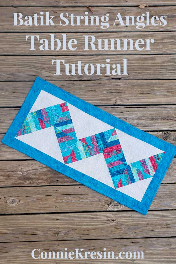 Batik String Angles quilt table runner tutorial