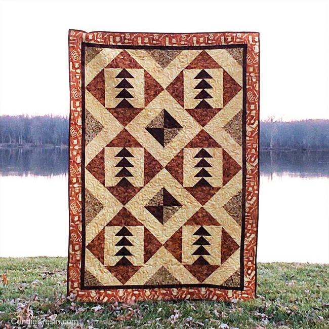 quilt hung up by the river