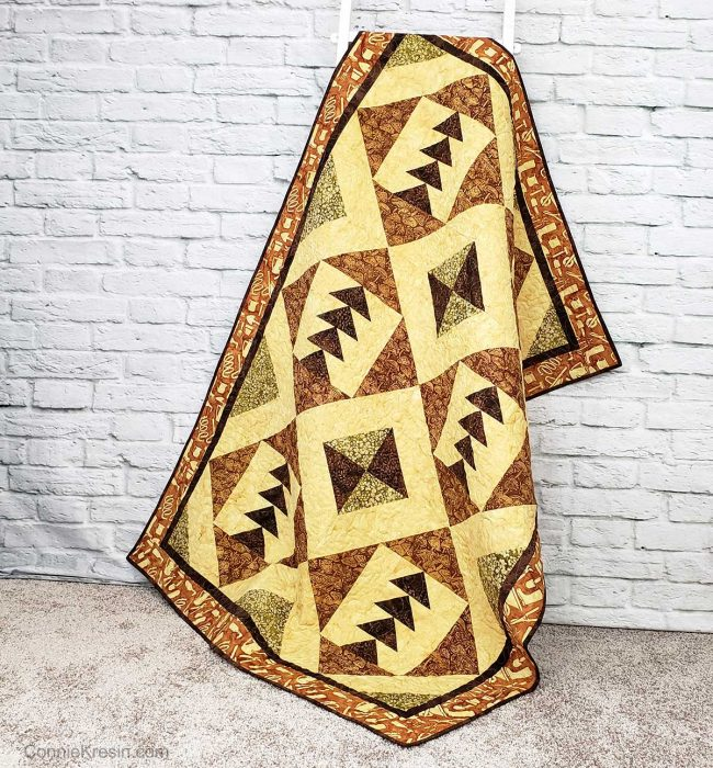 Tassel quilt pattern on ladder