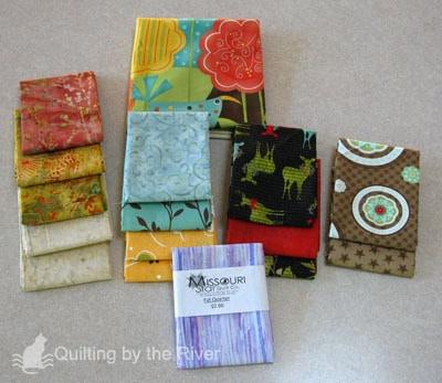 Fat quarters of fabric