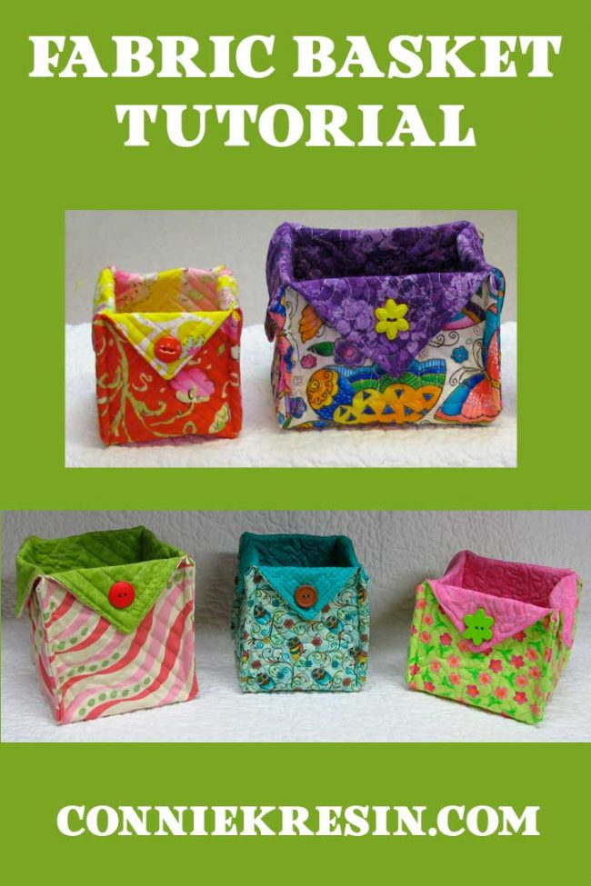 Easy fabric basket tutorial for quilters and crafters