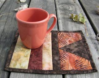 Batik mug rug