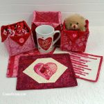 Mug Rug tutorials for Valentine's Day or Galentine's Day