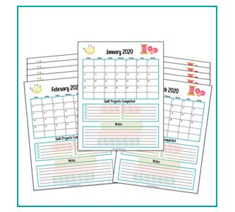2020 quilt calendar