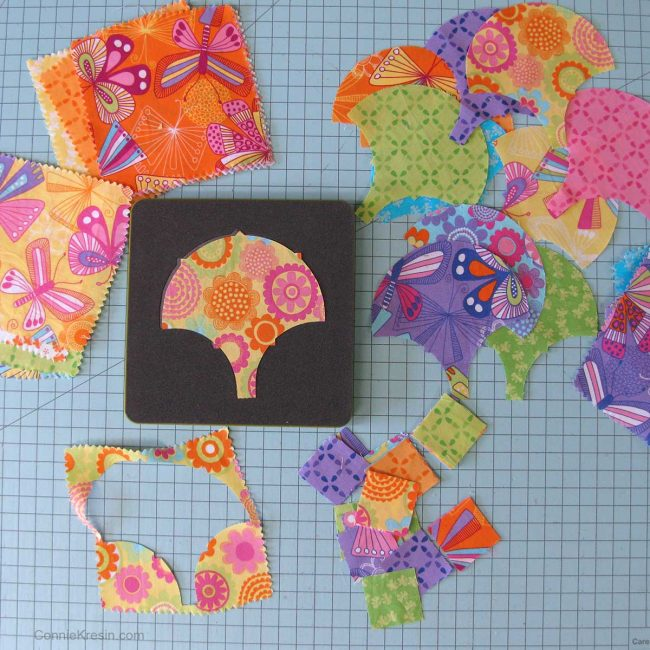 Scraps from the clamshell die
