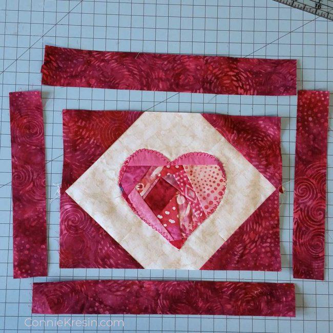 Add borders to mug rug
