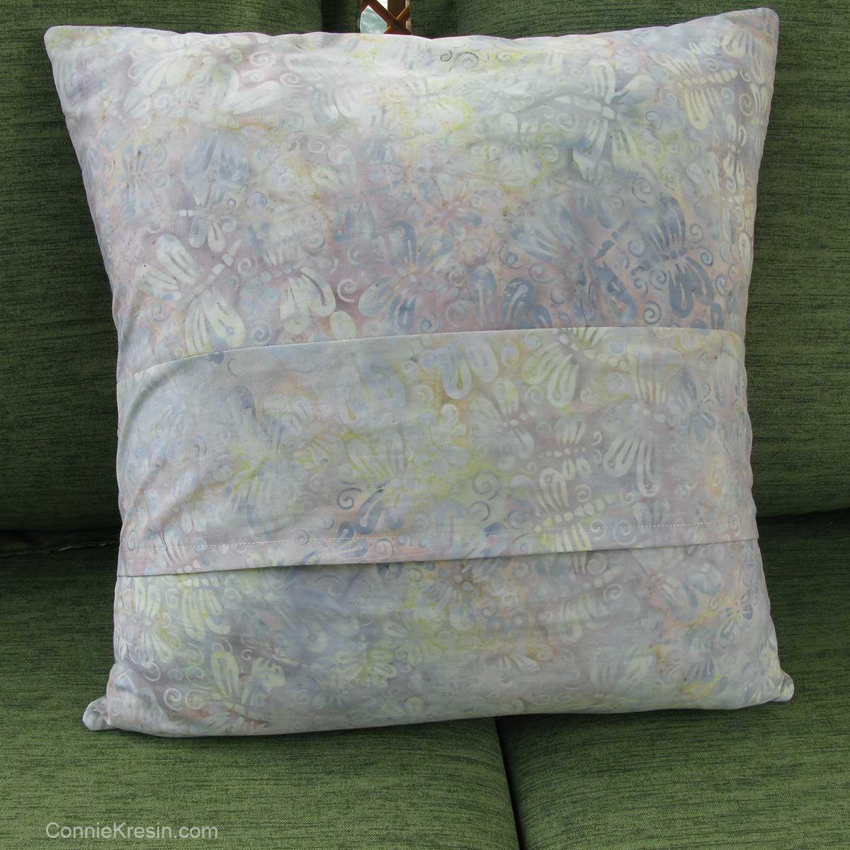 Dresden Flower pillow back