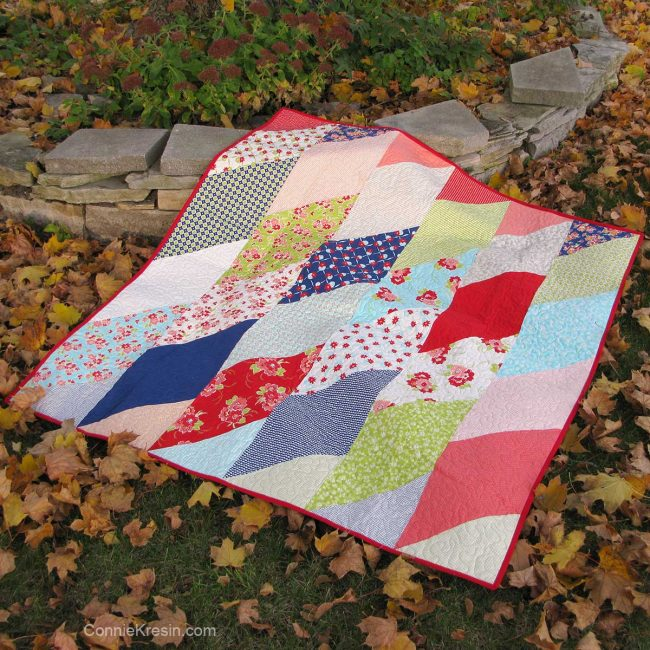 Fat Eight Frenzy free quilt pattern