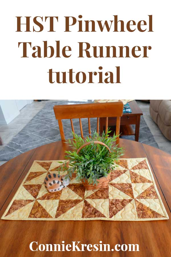 HST Pinwheel Table Runner tutorial pin