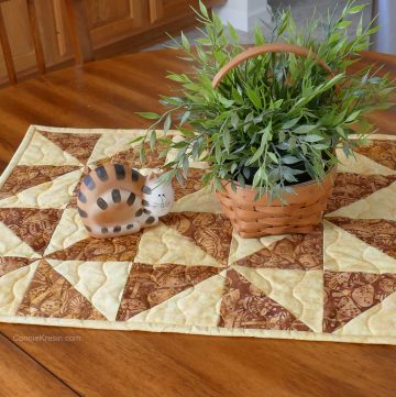 HST Pinwheel Table Runner tutorial