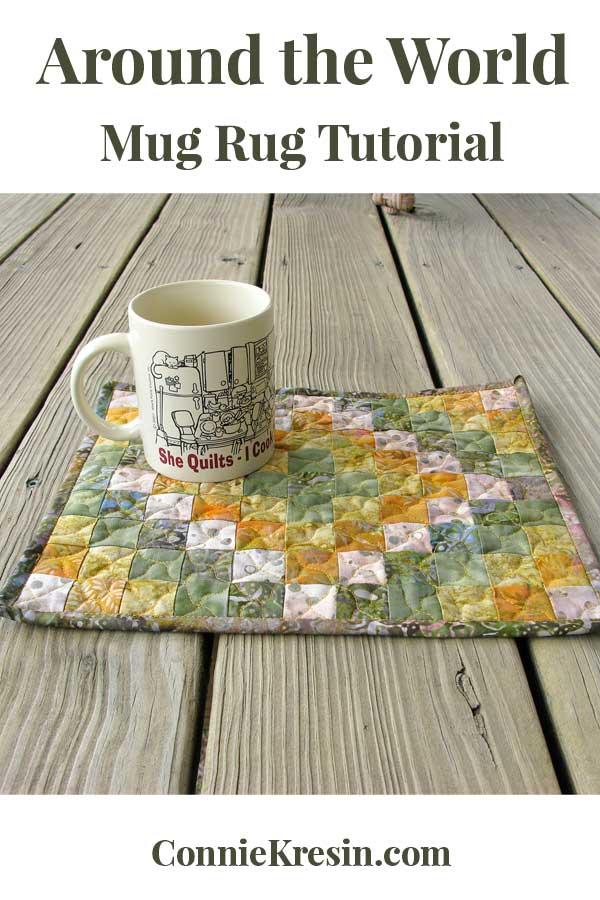 Around the World mug rug tutorial