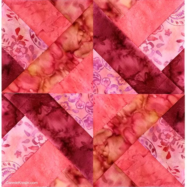 quilt block tutorial for Hidden wells