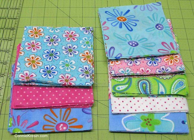 Fat quarters for the baby quilt
