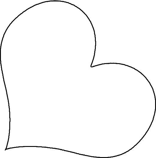 heart applique shape