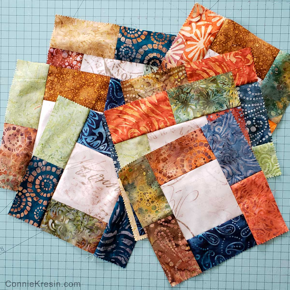 Finished quilt blocks