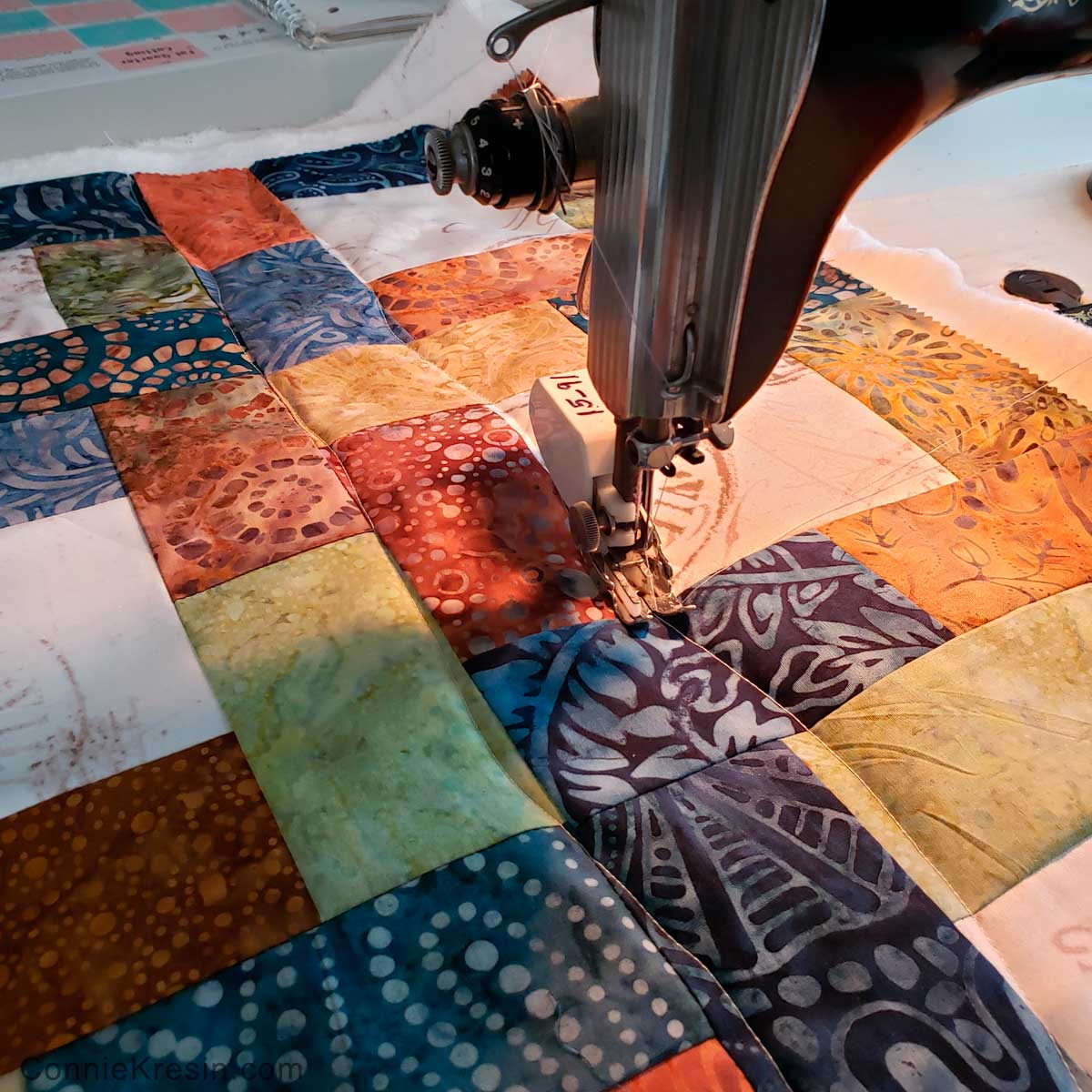 Quilting the table runner