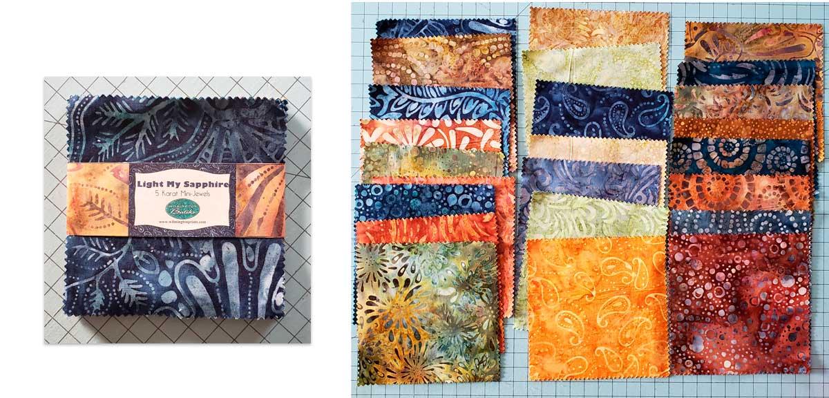 Batik charm pack fabrics
