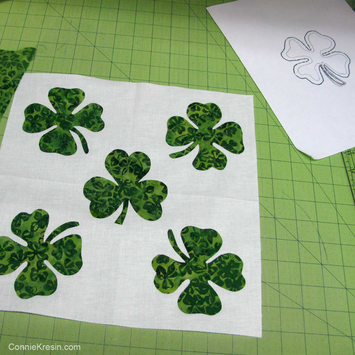 Applique Shamrocks