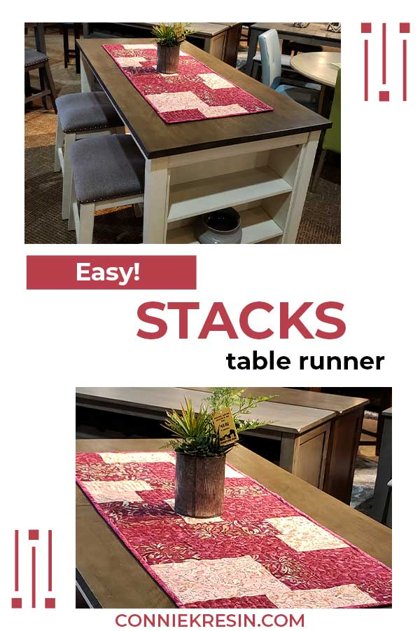 Stacks quilt pattern as a table runner