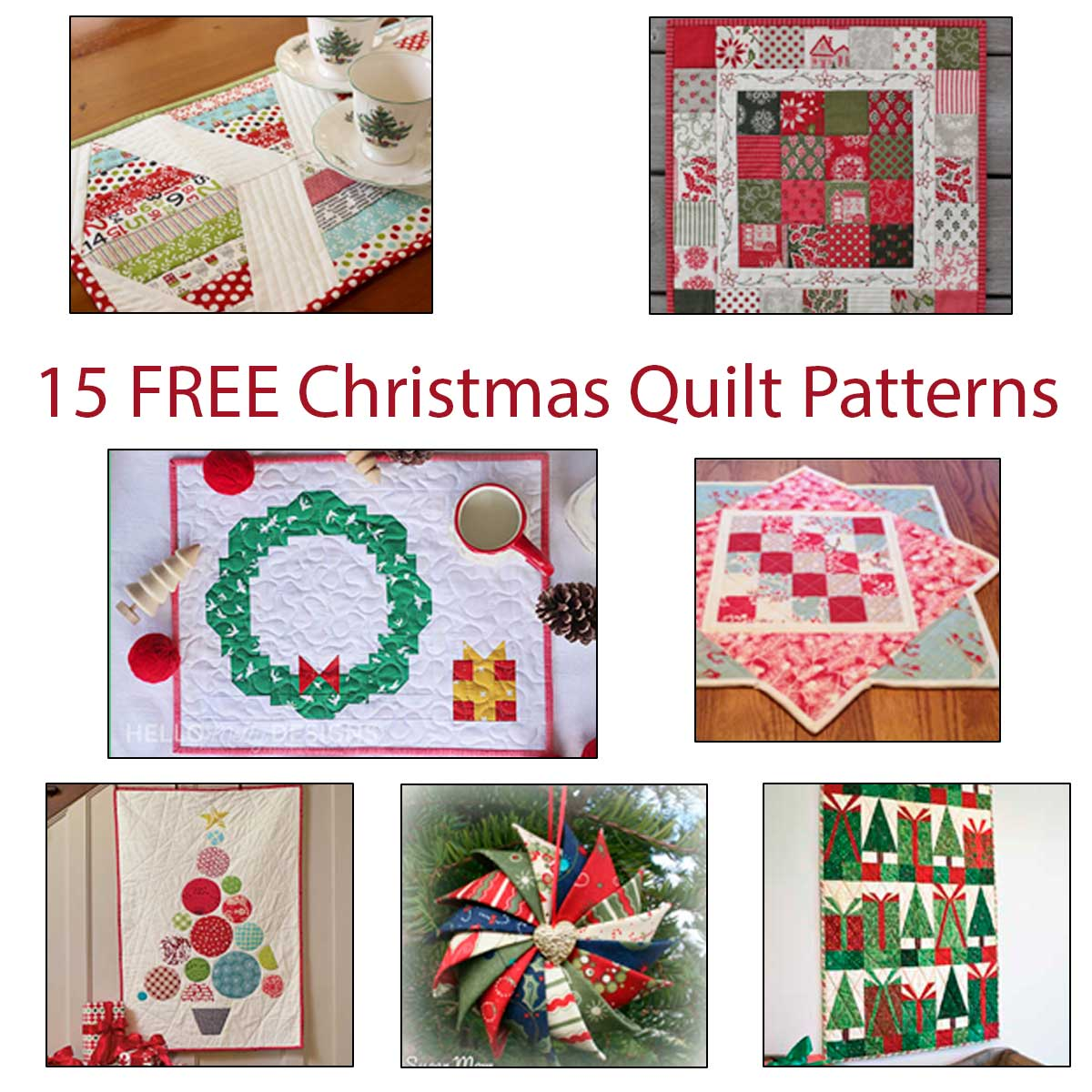 15 Christmas quilt tutorial