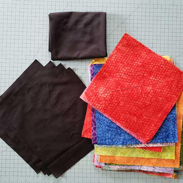 Fabrics used in quilt