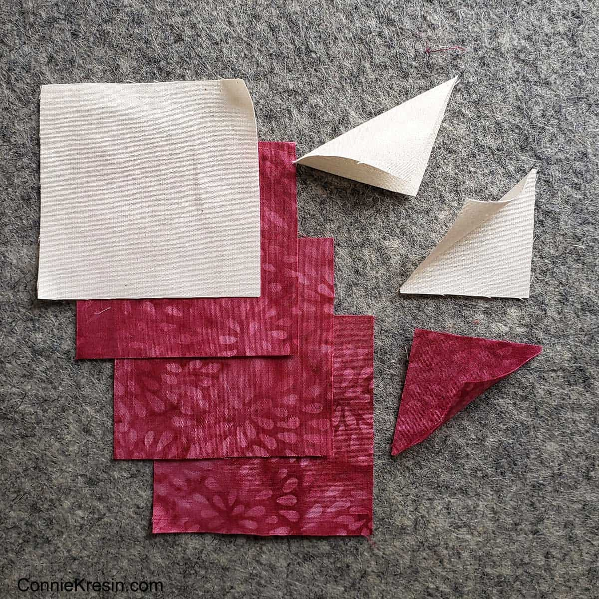 Morning glory quilt block tutorial fold small squares