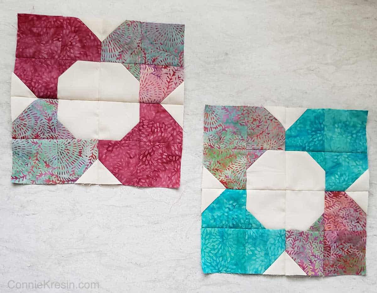 Morning glory quilt blocks
