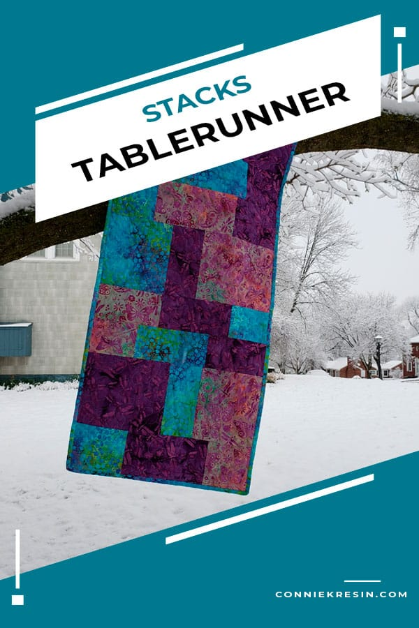 Stacks table runner