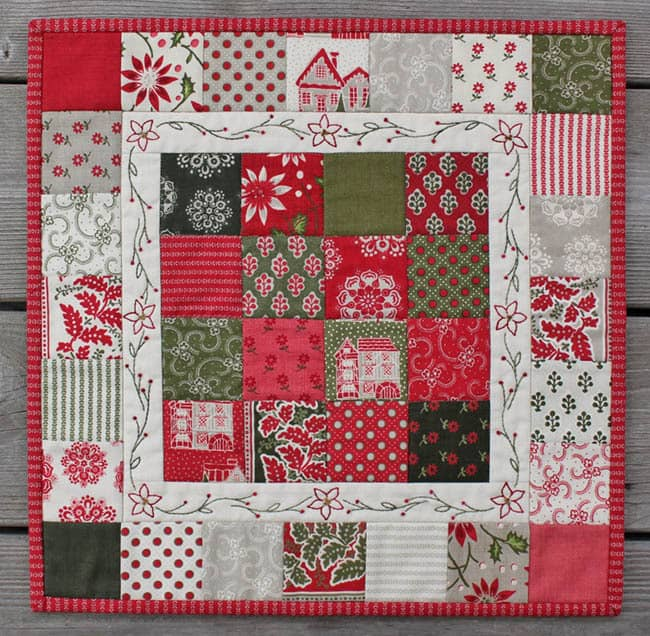 Christmas Candy mini quilt