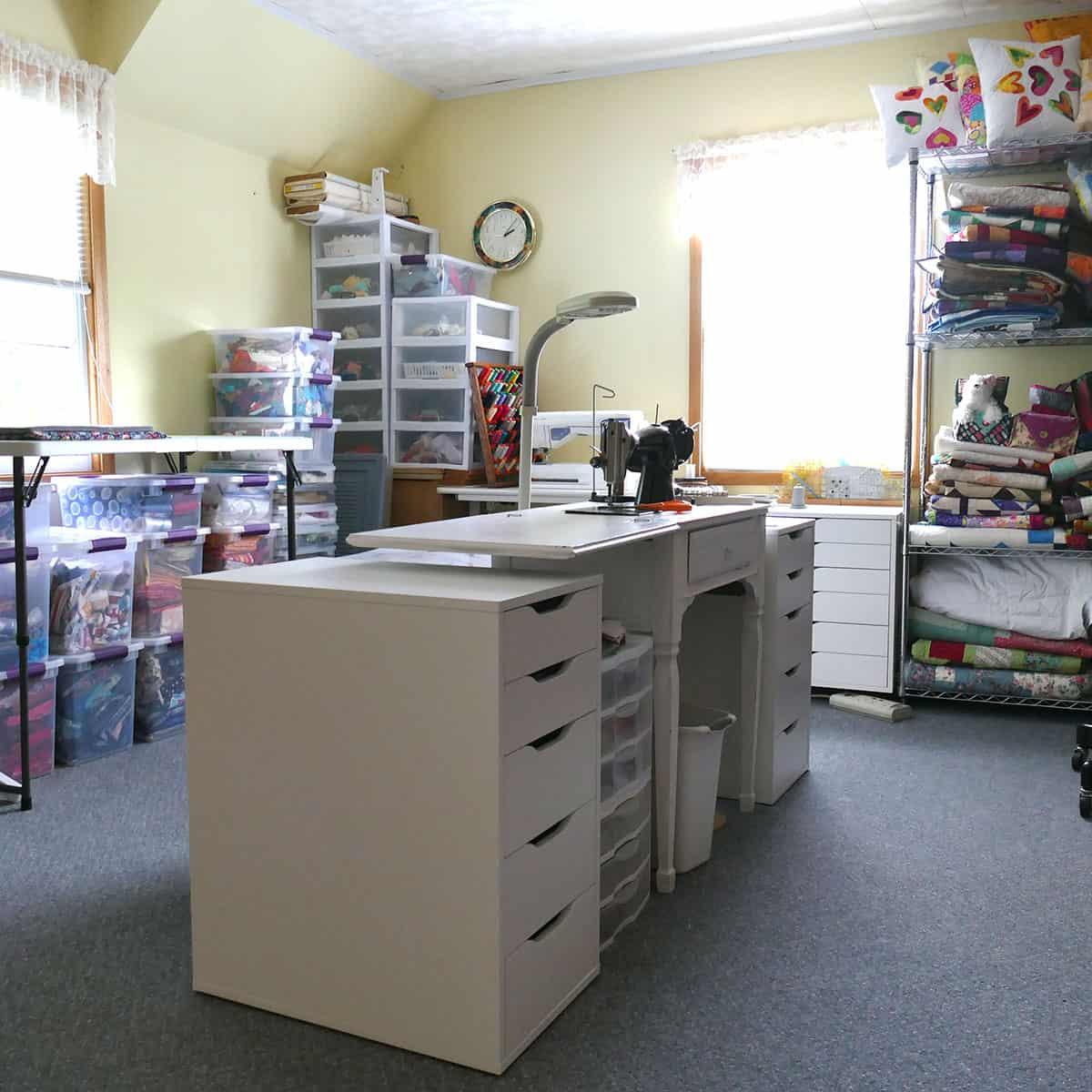 new storage in quilt studio