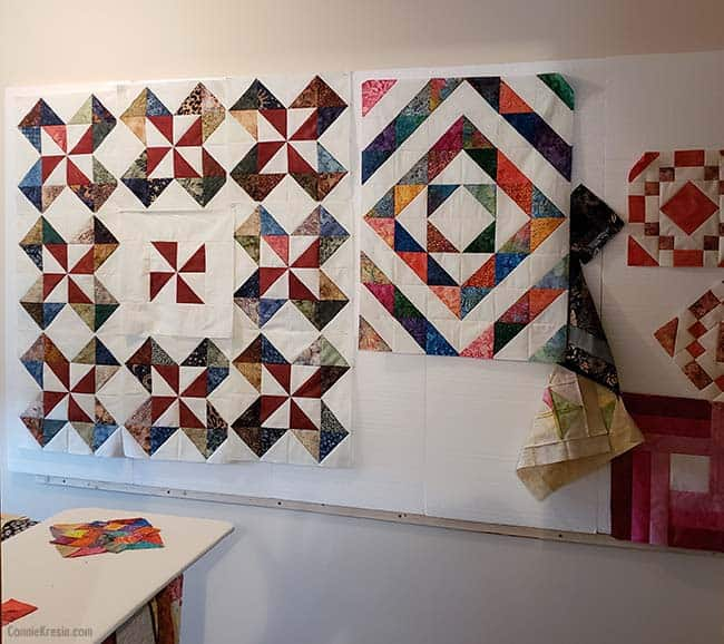 Quilt projects on my design wall