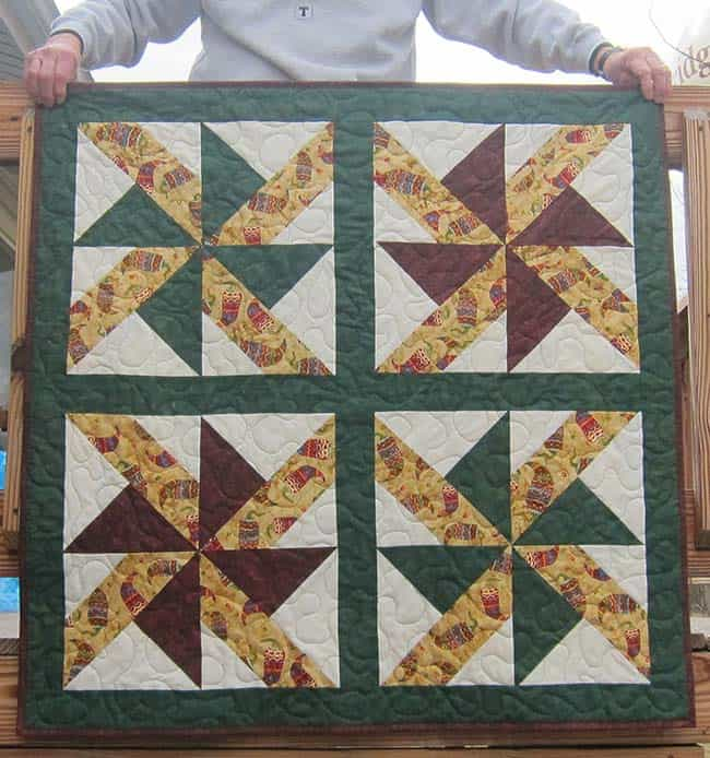 Joan and the Star Dust quilt