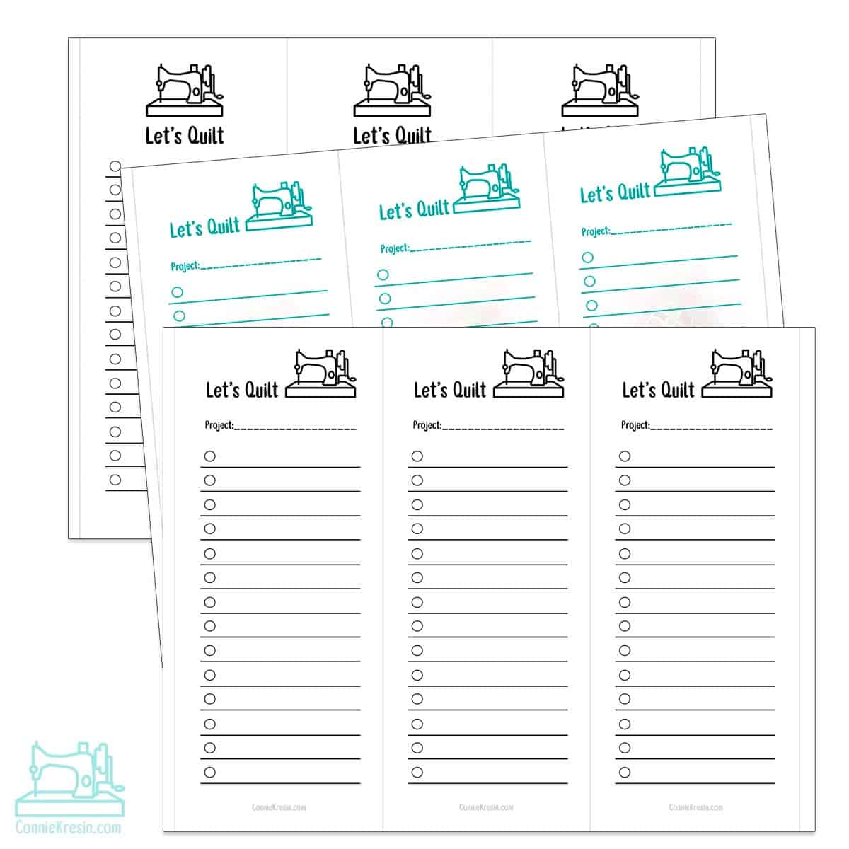 Lets quilt free printable lists