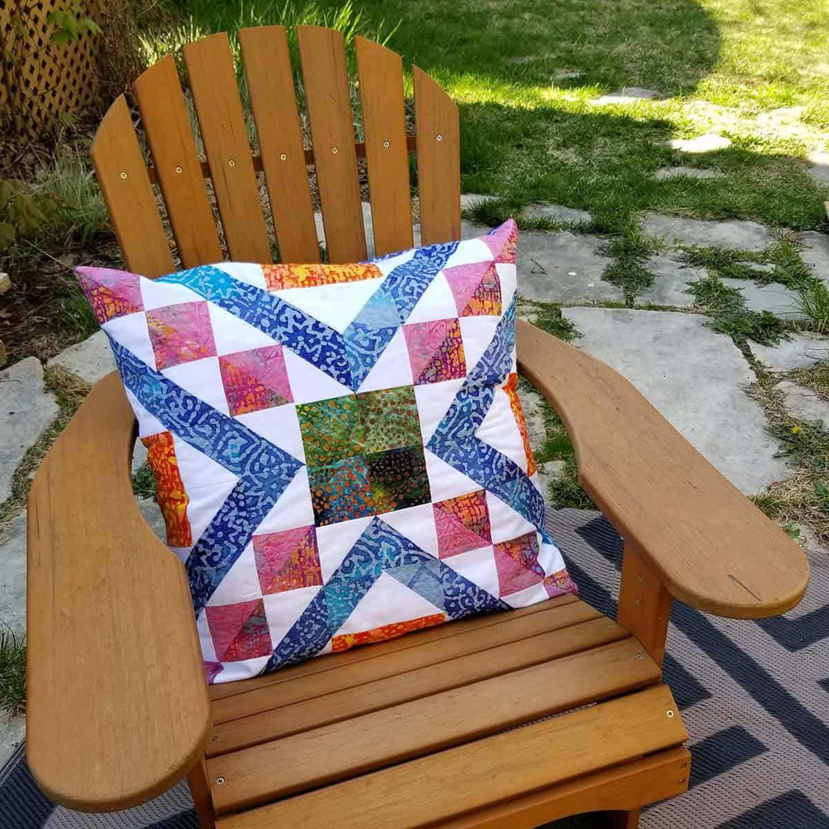 Lucie made a Affinity quilt pillow
