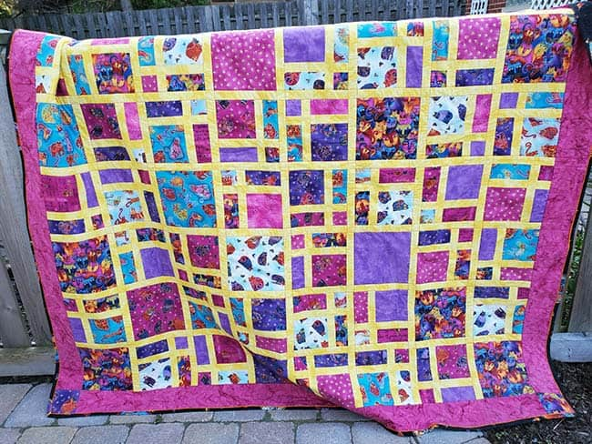 Scattered quilt