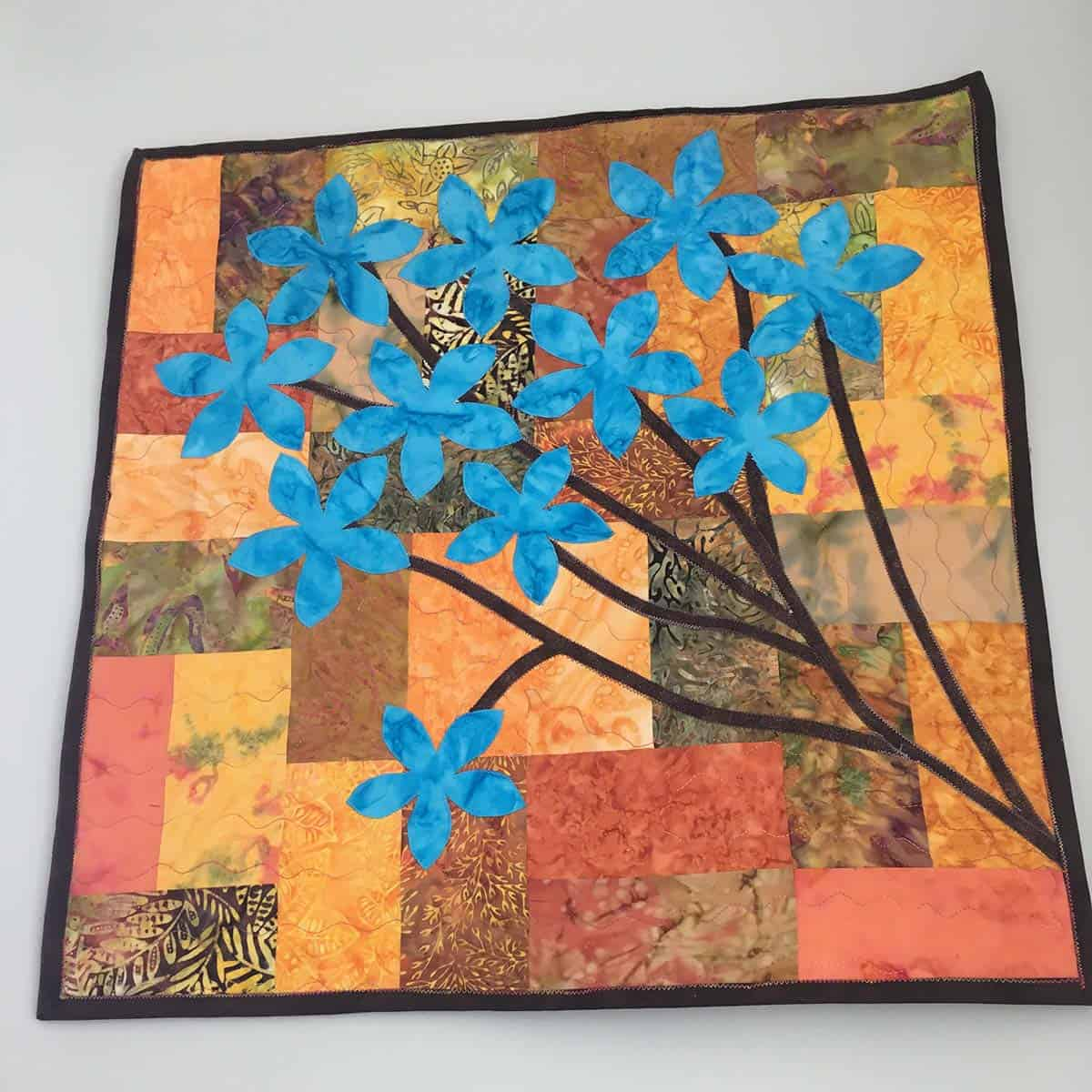 Maxine shared her Chinese Forget Me Nots quilt