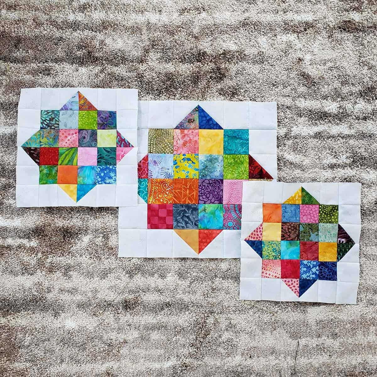 2 sizes of quilt blocks