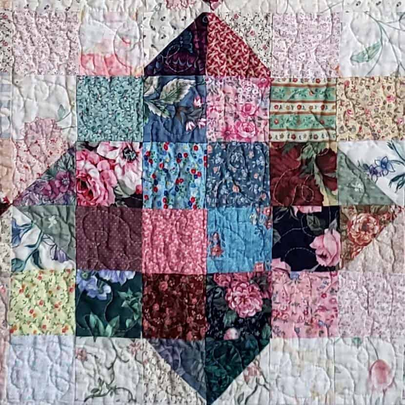 River Scraps quilt after several washings