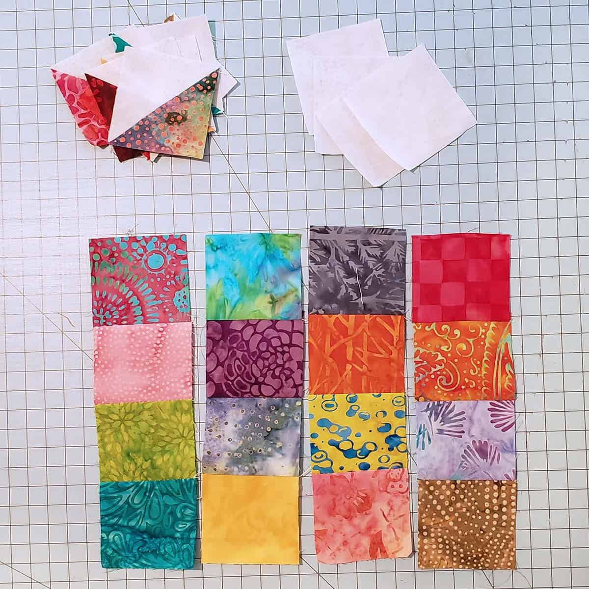 River Scraps block pieces
