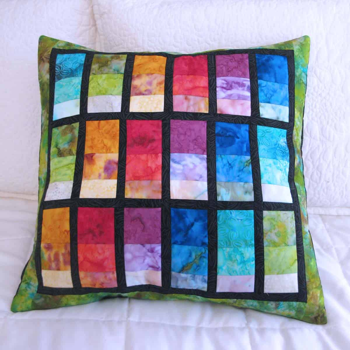 Stacked Rainbow Pillow