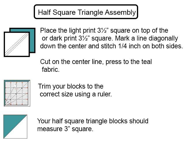 perfect 3 inch half square triangles