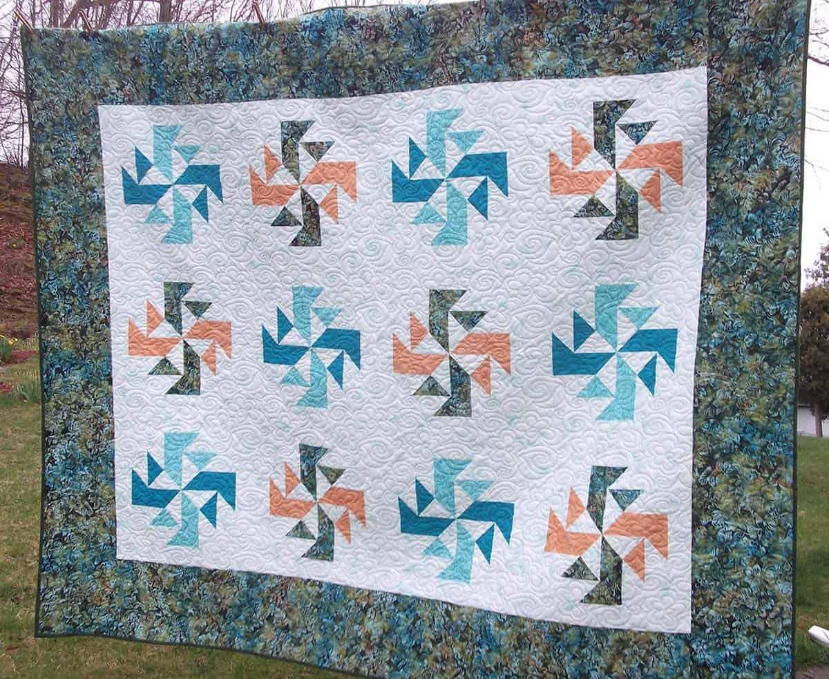 CrystaL Swirls quilt made by Brenda