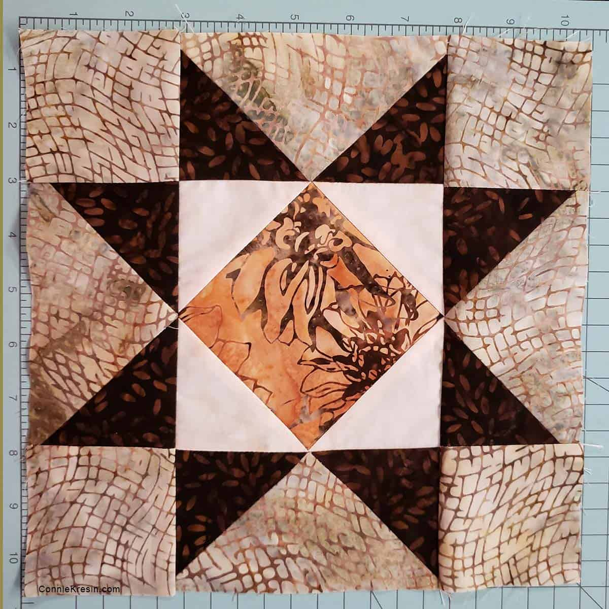 Variable Star block used in Diamond Stars quilt