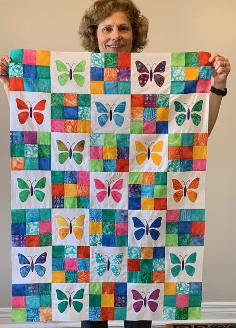 Linda shares her butterfly quilt