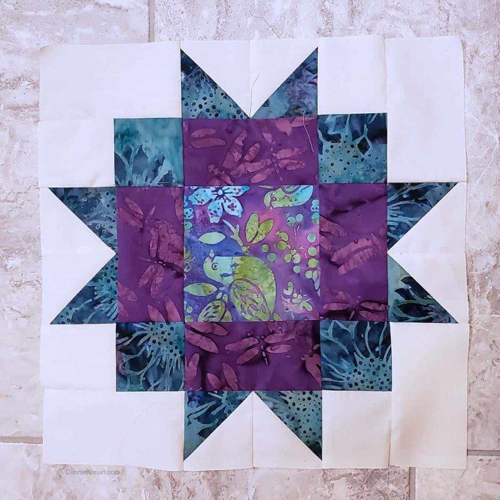 Maple Star quilt block