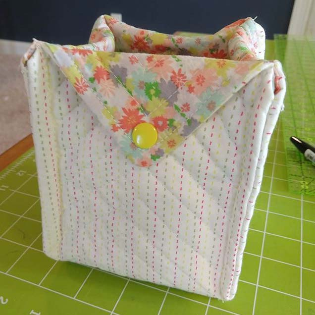 Bea shared her fabric quilt basket