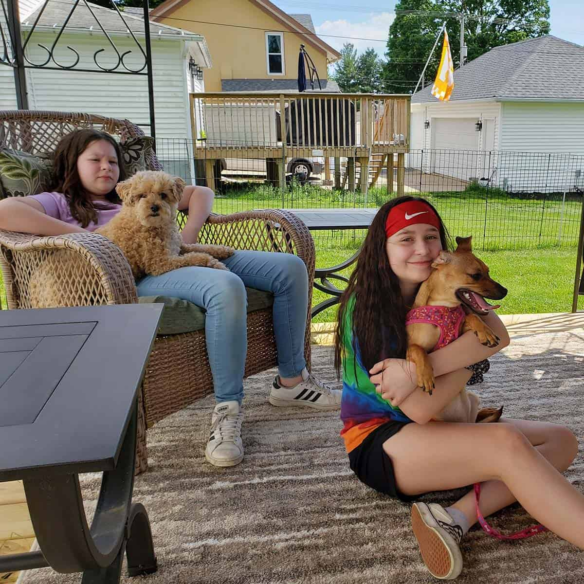 Grandkids and dogs
