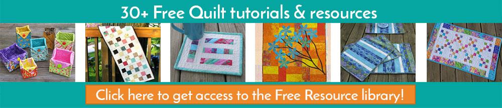 Get over 30 free quilt tutorials