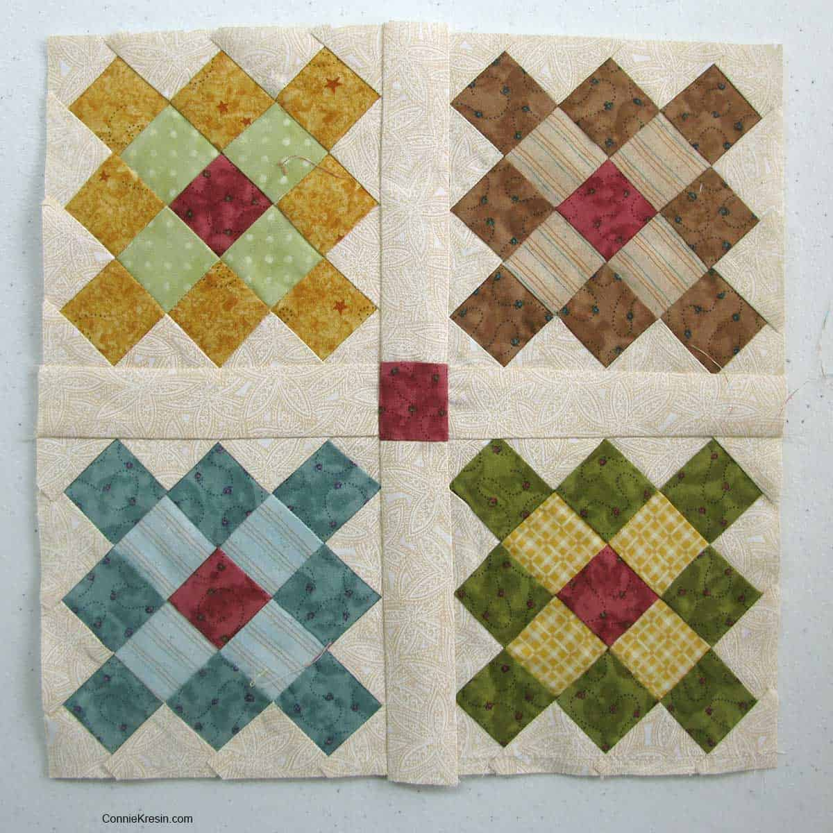 Granny Square quilt block project
