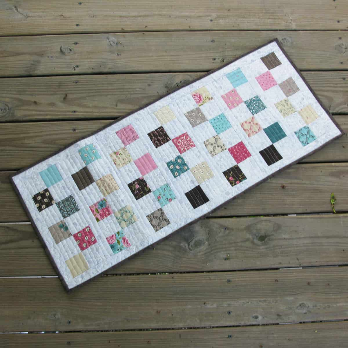 Finished table runner
